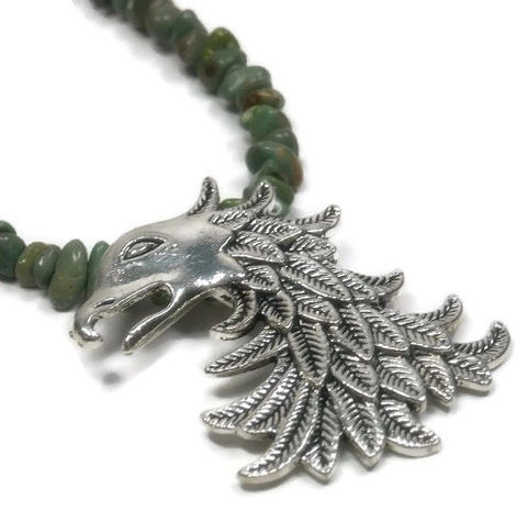 Mens,Turquoise,Necklace,,Carico,Lake,Green,Turquoise,,Dragon,Pendant,,Eagle,Jewelry,,Him,,Fiance,,Boyfriend,,Rocker,Jewelry,Necklace,turquoise_necklace,genuine_turquoise,green_turquoise,carico_lake,dragon_necklace,eagle_necklace,men_man_him,mens_jewelry,mens_necklace,unisex,rocker_goth,minimalist,gift_for_him,carico lake smooth turquoise nuggets,pewter dragon or eagle