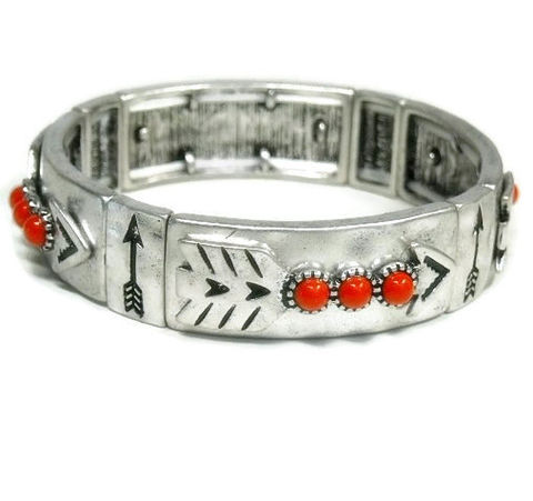 Arrow,Bracelet,-,Southwest,Stretch,Bangle,Red,Coral,Rustic,Art,Deco,Native,Silver,Stamped,with,Jewelry,tt_team_tpt_punks,arrow_bracelet,stamped_jewelry,metalwork,silver_bangle,red_coral_bracelet,southwest_bracelet,stretch_bracelet,native_symbols,arrow_jewelry,symbolic_arrow,follow_your_arrow,tt_tpt_punks_123,silver plate,coral cabochons