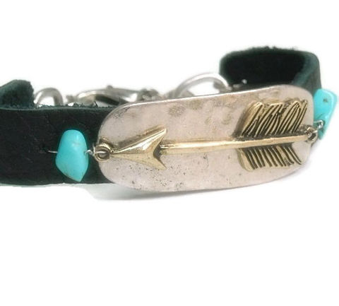 Arrow,Bracelet,-,Unisex,Jewelry,Black,Leather,Native,For,Him,Symbolic,Mens,Turquoise,Tribal,Arrow_Bracelet,Leather_Bracelet,Arrow_Jewelry,unisex_men_man_his,Archery,Symbolic_Arrow,turquoise,native,black_friday_cyber_m,mens_jewelry,for_him,mens_bracelet,arrow charm,turquoise stones,chain,lobster clasp,black leather