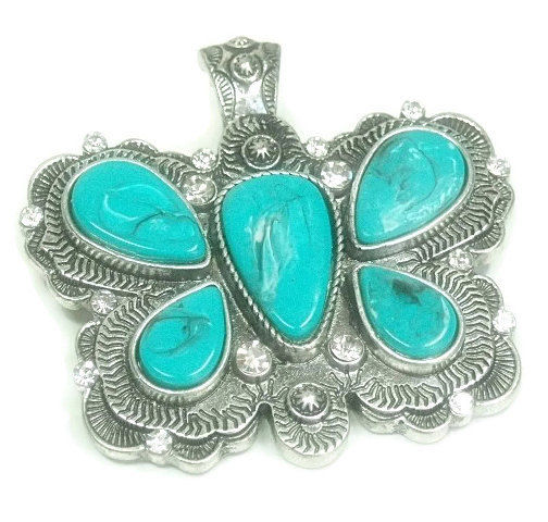 Turquoise Butterfly Magnetic Pendant - product images  of