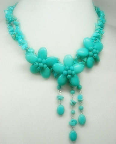 Turquoise,Jewelry,,Flower,Cluster,Statement,Necklace,,Necklace,Set,,Floral,Bohemian,,Hippie,,Chunky,,Gemstone,,Rhodium,Jewelry,Turquoise_Necklace,Flower_Cluster,Turquoise_Flowers,Beaded_Flowers,Statement_Necklace,Cluster_Necklace,Beadwork,Boho_Necklace,Hippie_Jewelry,Bohemian,Necklace_Set,black_friday_cyber_m,turquoise chips,magnesite beads,beading wire,r