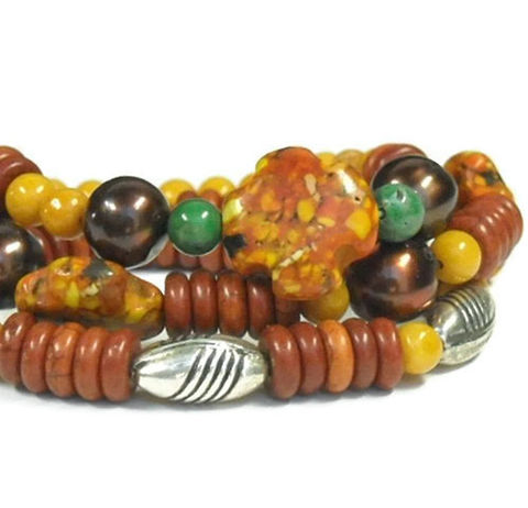 Stacking,Bracelets,,Mixed,Gemstone,Multistrand,,Autumn,,Multi,Strand,Bracelet,,Fall,,Orange,,Yellow,,Green,,Chunky,,Boho,Jewelry,Bracelet,stacked_bracelets,gemstone_bracelets,mixed_gemstones,orange_yellow_green,autumn_fall,triple_bracelet,set_of_three,spicy_mustard,lush_meadow,potters_clay,stretch_bracelets,boho_southwest,gemstone_jewelry,silver plated copper beads,mosaic m