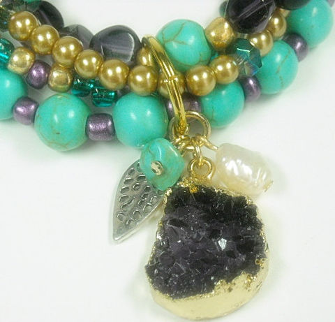 Druzy,Necklace,,Turquoise,Mixed,Gemstone,,Multistrand,Druze,,Pearls,,Drusy,,Purple,Agate,,Jewelry,,Druse,,Boho,,Multi,Jewelry,Necklace,Druzy_Drusy,Multistrand_Necklace,Natural_Druzy,Layered_Jewelry,Druzy_Pendant,Druzy_Jewelry,Druzy_Necklace,Mixed_Gemstones,turquoise,purple,druzy_agate,boho_bohemian,black_friday_cyber_m,seed beads,french crimps,wire,jewelers wire,druzy nu