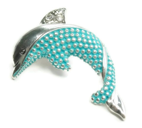 Magnetic,Dolphin,Pendant,dolphin pendant, magnetic pendant, clip on, dolphin, animal, removable, interchangeable, marine life, sea, ocean, beach, blue, jewelry supplies, instant necklace