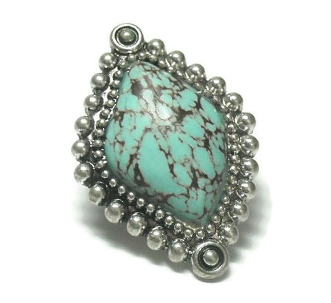 Turquoise,Gemstone,Stretch,Ring,turquoise gemstone stretch ring, southwest, western ring, statement ring, adjustable ring, boho, cowgirl