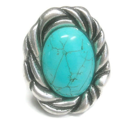 Turquoise,Gemstone,Stretch,Ring,turquoise gemstone stretch ring, oval, southwest, western ring, statement ring, adjustable ring, boho, cowgirl