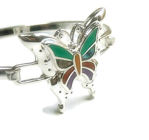 Inlay,Butterfly,Bracelet,Butterfly Bangle bracelet, inlay butterfly Jewelry, bangle bracelet, minimalist, southwest, symbolic animal, bug, insect, colorful