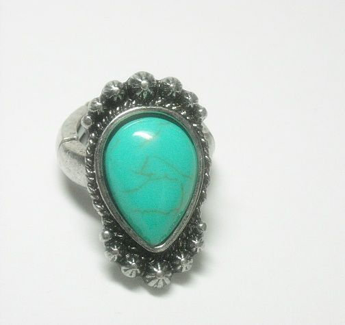 Turquoise Gemstone Stretch Ring - product images  of