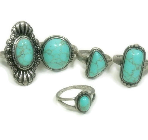 Turquoise Midi Ring Set - product images  of