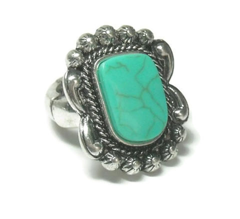 Turquoise,Gemstone,Stretch,Ring,turquoise gemstone stretch ring, southwest, western ring, statement ring, adjustable ring, boho, cowgirl, tribal