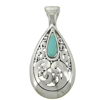 Turquoise,Teardrop,Magnetic,Pendant,Turquoise Teardrop Magnetic Pendant - Clip On Interchangeable Magnetic Necklace Pendant - Turquoise Magnetic Pendant - Cowgirl Pendant - Removable Pendant