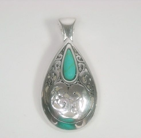 Turquoise Teardrop Magnetic Pendant - product images  of