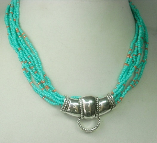 Beaded Necklace Magnetic Pendant Holder - product images  of
