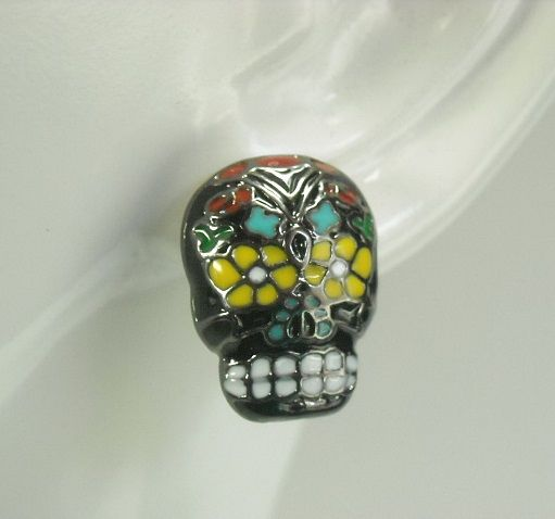 Sugar Skull Post Earrings - product images  of