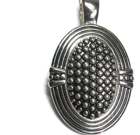 Oval,Magnetic,Silver,Pendant,Oval Magnetic Pendant, Oval Dot Textured Magnetic Pendant, Clip On Interchangeable Magnetic Pendant, Ornate Round Metal Pendant, Southwest, Bohemian, Removable, DIY Jewelry, Silver, jewelry supplies