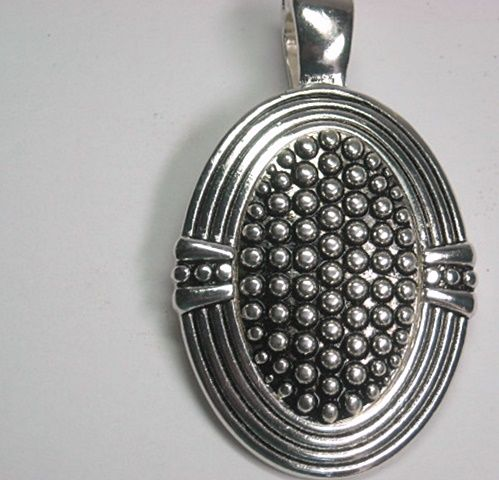 Oval Magnetic Silver Pendant - product images  of