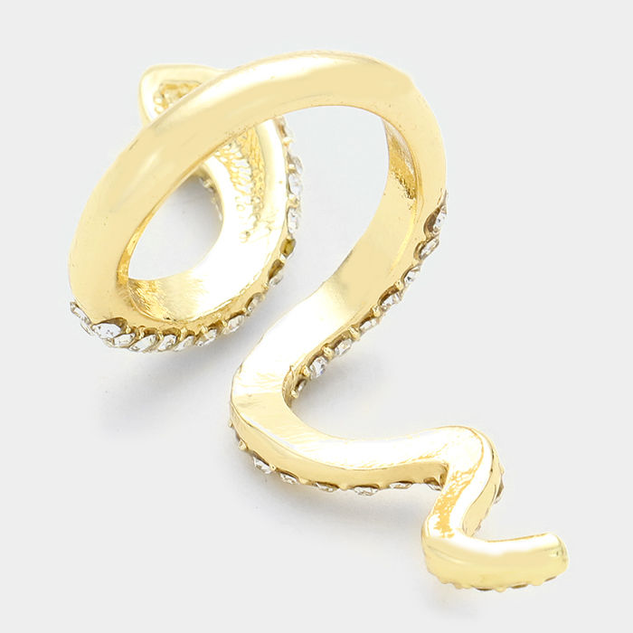 Gold Snake Wrap Ring - product images  of