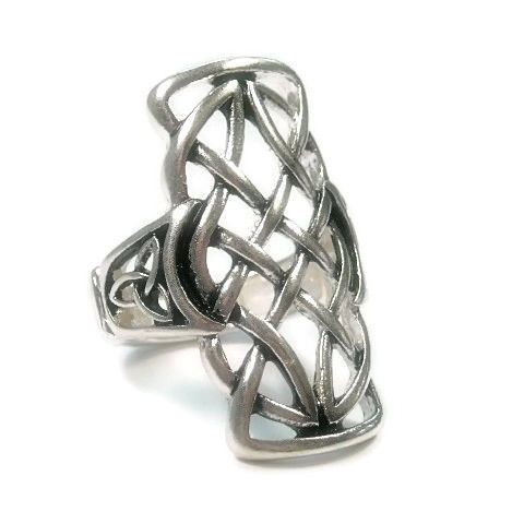 Long,Basket,Weave,Swirl,Stretch,Ring,Long Swirl Stretch Ring, Jewelry, adjustable ring, boho bohemian, knuckle ring, silver, multifinger ring, statement ring