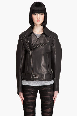 Maison,Martin,Margiela,Leather,Jacket,leather, maison, martin, margiela, black