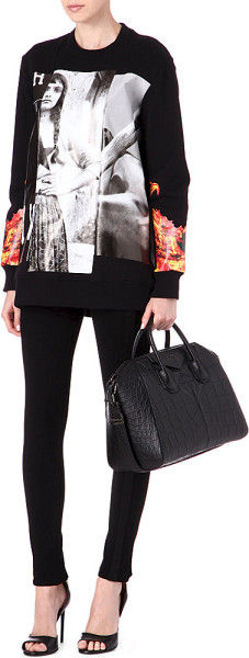 GIVENCHY Black Gypsy Baseball Print Sweatshirt - product images  of