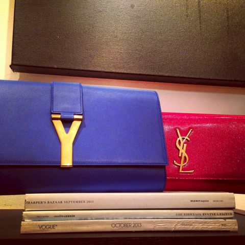 Y,CLUTCH,-YSL,clutches,(Assorted,Colors),Ysl, y clutch, saint laurent, yves saint laurent