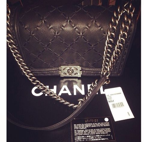 Brand,New,With,Tags,Chanel,Le,Boy, Chanel boy bag, Chanel le boy, Chanel caviar, Chanel chain bag