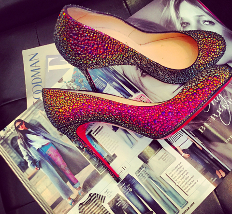 SOLD-Christian,Louboutin,Strass,Multicolor,Pump,christian louboutin, christian louboutin consignment, consignment stores, nyc