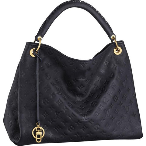 Louis,Vuitton,Leather,Black,Artsy,Bag,LOUIS VUITTON Monogram Empreinte Artsy MM Infini, Louis Vuitton bag