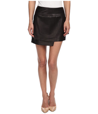 Helmut,Lang,Leather,Layered,Skirt,helmut lang, helmut lang leather skirt