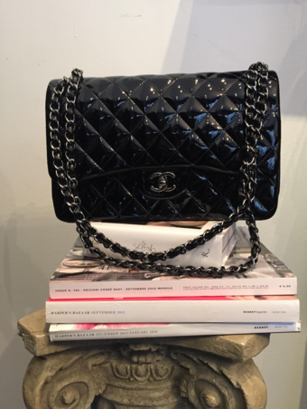 Chanel,Patent,Leather,Jumbo,chanel jumbo classic, chanel classi, chanel consignment, chanel black bag, chanel sale,