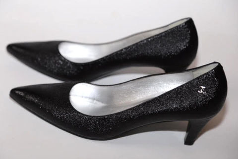 Black,Chanel,Heel, Black, Heels, Consignment, Designer, Harlem, Shoes
