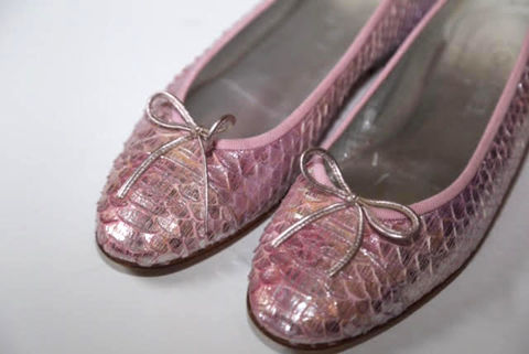 Pink,Python,Chanel,Flats, Chanel, Flats, Python, Consignment, Harlem, Style,