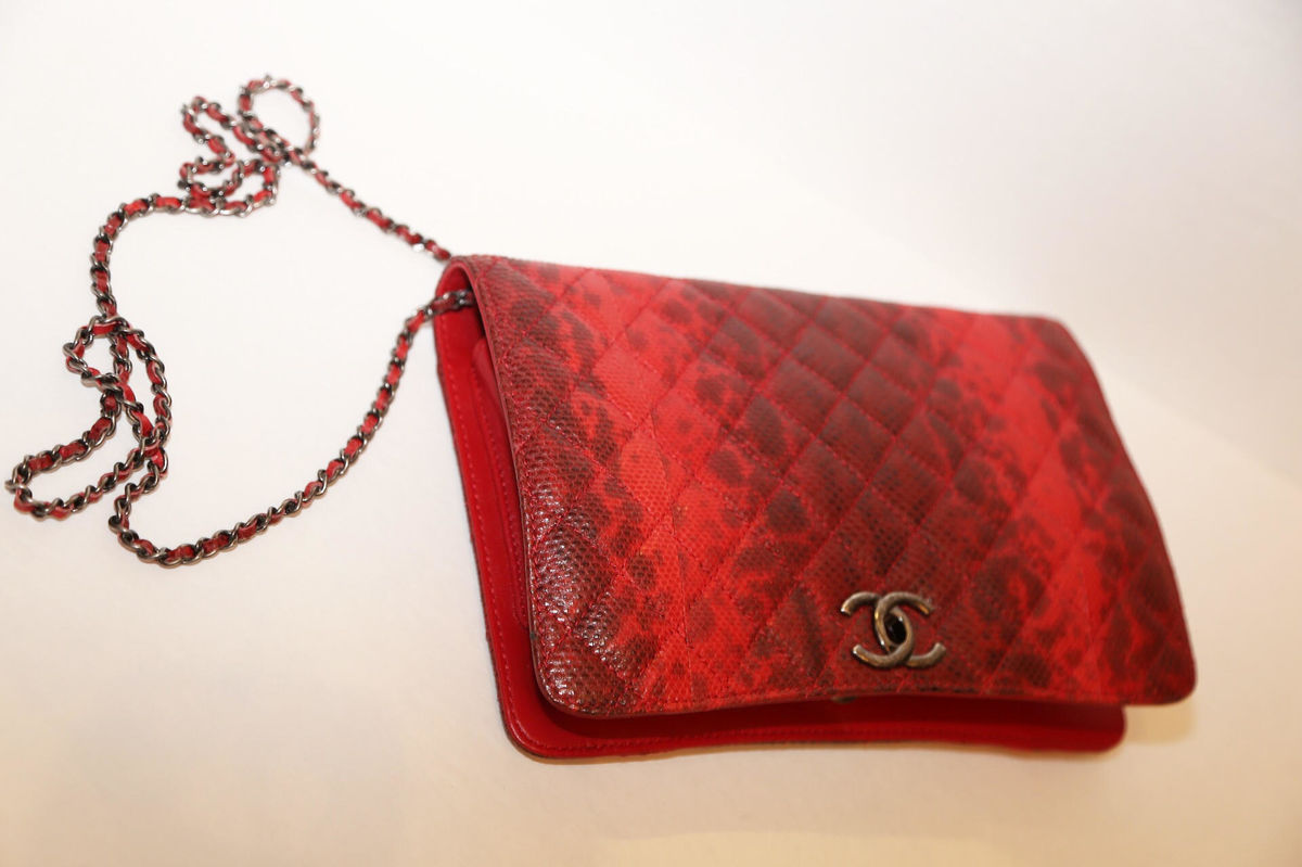 Chanel Snakeskin Clutch with chain - product images  of