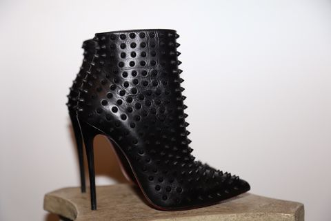 Christian,Louboutin,Boot,Christian Louboutin, boots, studded boots, consignment