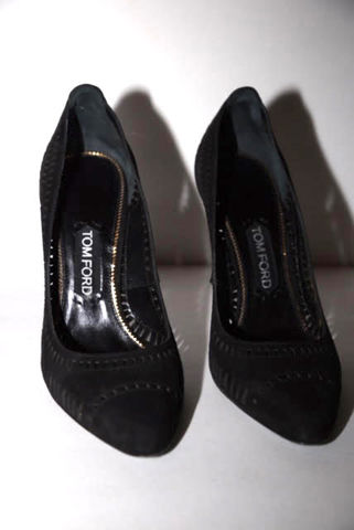 Tom,Ford,Black,Suede,Pump,tom ford pumps, tom ford consignment, tom ford heels
