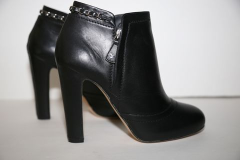 Chanel,Black,Leather,Boots,Chanel shoes, chanel boots, chanel leather , chanel consignment