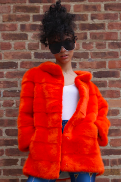 Mink,Coat,Orange, Mink, Coat