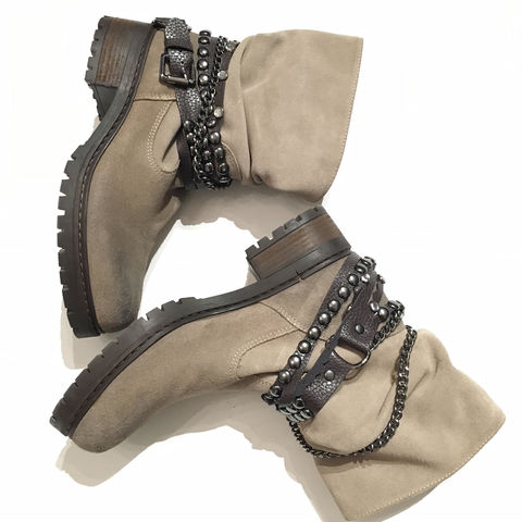 Moschino,Suede,Leather,Boot,Moschino Love, Moschino boots, Moschino consignment
