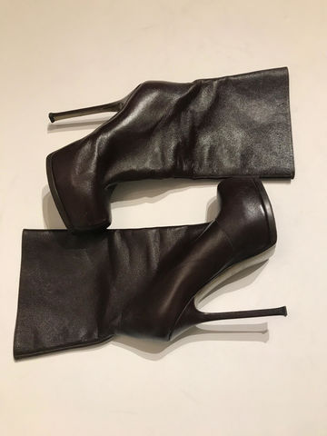 YSL,LEATHER,BOOT,YSL BOOTS, YSL CONSIGNMENT, LEATHER BOOTS, PLATFORM BOOTS