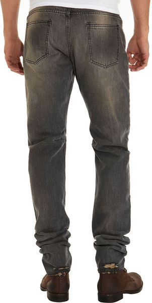 BALMAIN Gray Straight Leg Jean - product images  of
