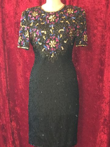 Sparkly,Lovely,Cocktail,Dress,in,Pink,,Royal,Blue,,Gold,&,Black,Beads,Sequins,cocktail dress, sequin dress, pink, royal blue, gold, black