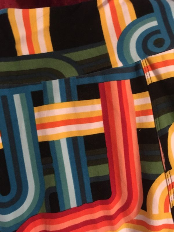 LulaRoe OS Lines & Swirls Leggings - product images  of