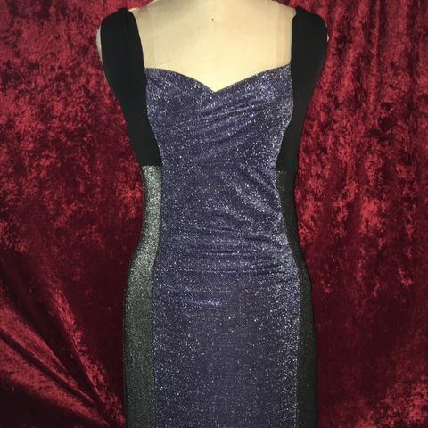 MORDT,Original,Design,Purple,&,Black,Stretch,Wiggle,Sparkly,Dress,MORDT Original Design Purple & Black Stretch Wiggle Sparkly Dress