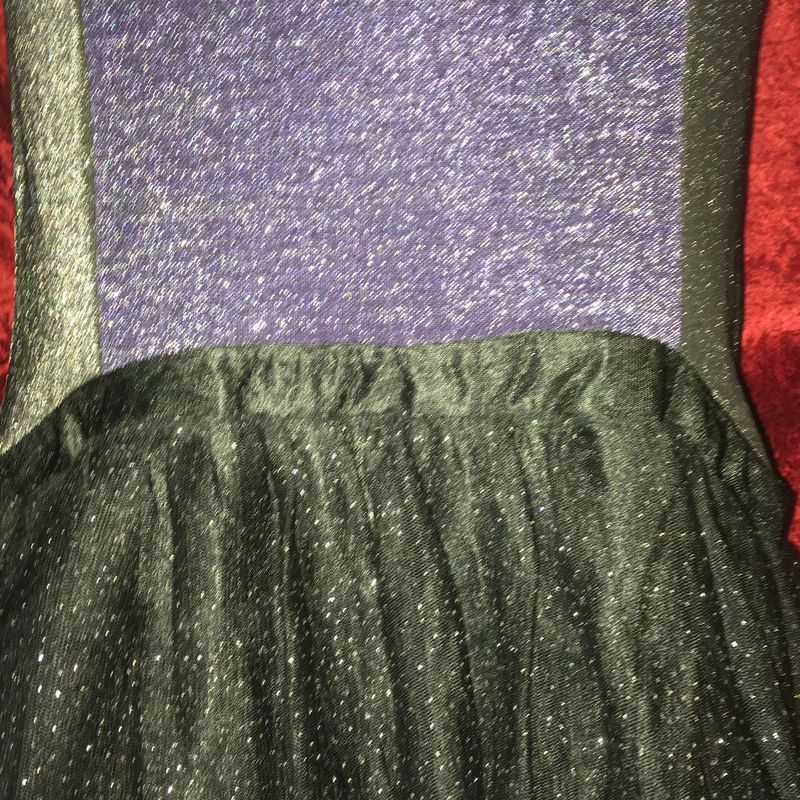 MORDT Original Design Purple & Black Stretch Wiggle Sparkly Dress - product images  of
