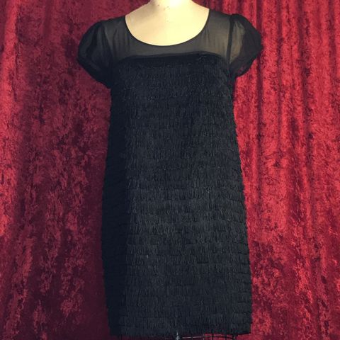 Black,Fringe,Dress,by,Kensie,Pretty,US,Small,Black Fringe Dress by Kensie Pretty US Small