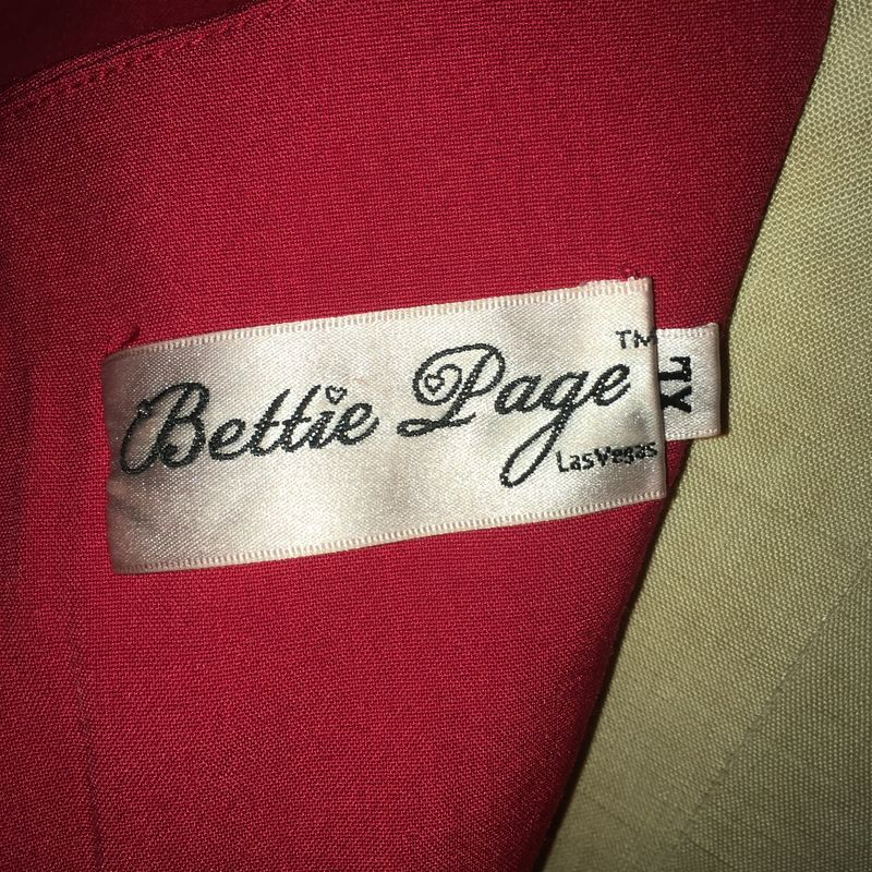 Bettie Page by Tatyanna Sierra Red Wiggle Dress XL - product images  of