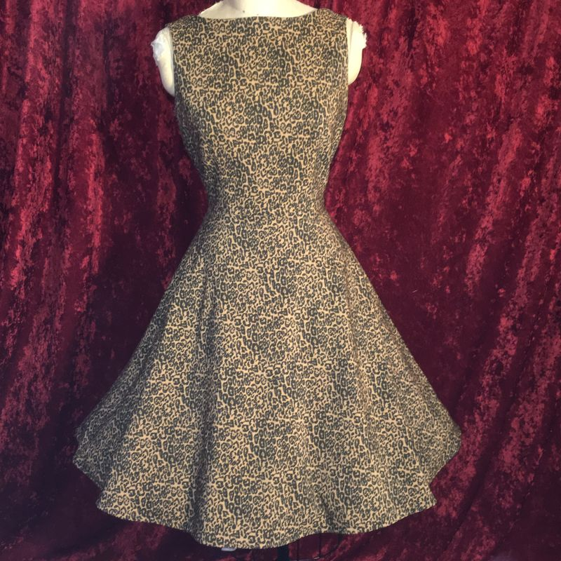 Bettie Page by Tatyanna Marie Leopard Print Retro Pinup Dress - product images  of
