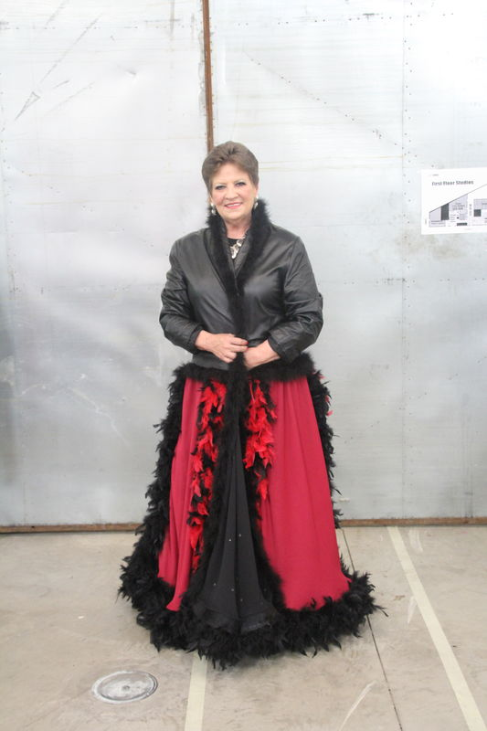 Rocky Horror Inspired Leather Coat, Duster - Chiffon and Feathers - product images  of
