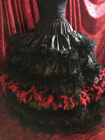 Custom,Feathered,,Tiered,,Ruffled,Crinoline,Hoop,Skirt,Custom Feathered, Tiered, Ruffled Crinoline Hoop Skirt