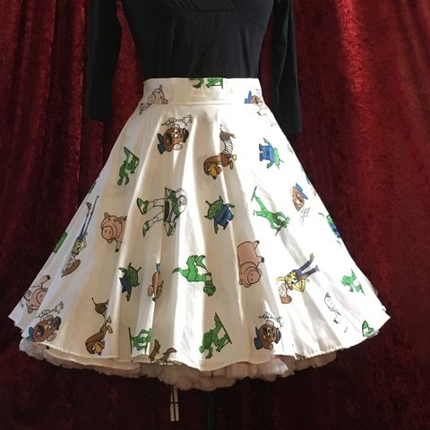 Wrap,Around,,Multi-size,,Circle,Skirt,Toy,Story,Print,Wrap Around, Multi-size, Circle Skirt Toy Story Print